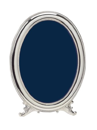 Cunill Silver Beaded Oval Frame for 4 by 6-Inch Photograph, Sterling - Oval Frame Silver