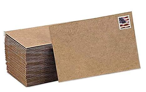 Amazon.com: Sobres de papel kraft de color marrón, 100 ...