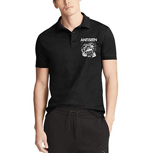 SEHUYER Mens Short Sleeve Black Cute Quick Dry Golf Polo T-Shirts