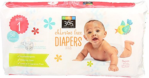 365 Everyday Value Diapers Size 1, 50 Count