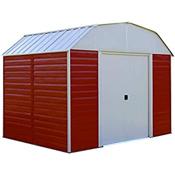 Arrow RH108 Red Barn 10-Feet by 8-Feet Steel Storage Shed