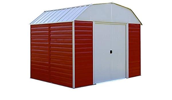 Flecha rh108 Red Barn - 10 pies por 8-Feet acero cobertizo: Amazon.es: Jardín