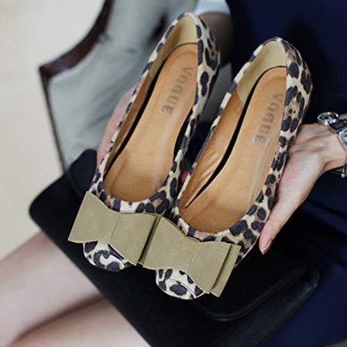 Moda Da Casual Lavoro Scarpe Piselli Leopardo Ballerine Barca Donna B Mocassini 8fOnqOd