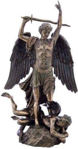 15 St. Archangel Michael Standing on Demon From Fontaine Saint-Michel Statue