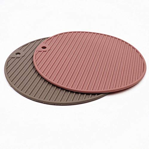 Starluo Silicone Trivet Mats Hot Pads Non-Slip Silicone Insulation Mat Non-Slip Durable Flexible Easy to wash for Home Use 2 Pcs