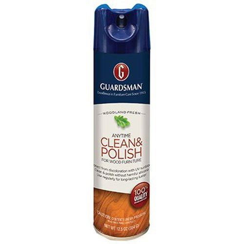 Guardsman Clean & Polish For Wood Furniture - Woodland Fresh - 12.5 oz - Silicone Free, UV Protection - 460100 (Furniture Polish)