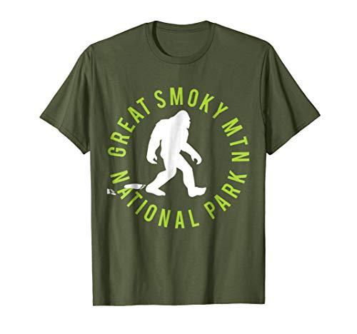 - Mens Great Smoky Mtn. National Park Bigfoot T-shirt 2XL Olive