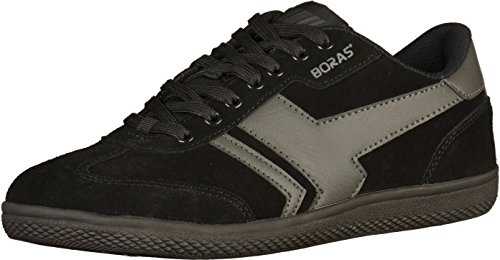 Boras - Hommes Socca Bas Chaussures Noires Dans Plus De Tailles