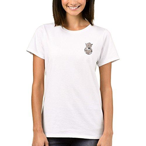 Zazzle Women's Basic T-Shirt, Security Forces Badge T-Shirt, White - Forces Badge Security
