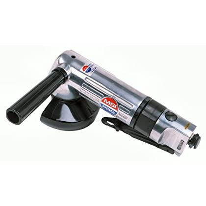 Image of ANGLED AIR GRINDER - MSI PRO Heavy Duty Aluminum Body 0.65HP 12,000RPM - 9'L - 4' wheel Angle Grinders