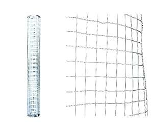 Malla de alambre de jardín galvanizado 5m x 60cm)