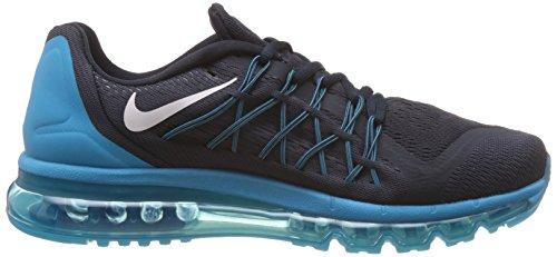 Nike Mens Air Max 2015 Obsidian Scuro / Bianco Bl Lgn Cp Scarpa Da Corsa 7.5 Uomini Noi