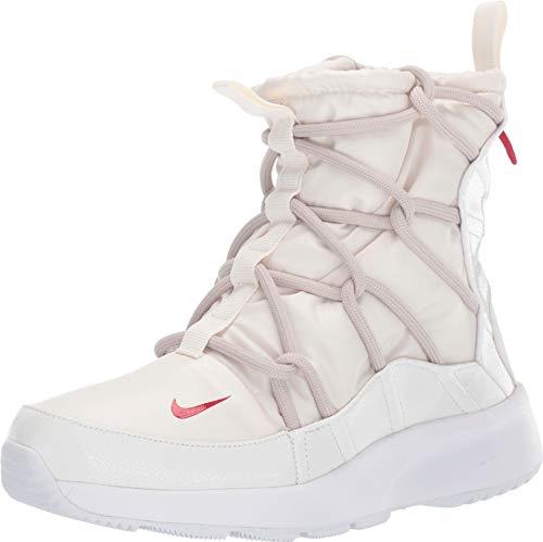 Nike Women's Tanjun High Rise High Top Sneaker Boots (8.5, Phantom/Gym RED-Desert SA)