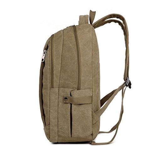 Z&N Backpack Lona De La Alta Calidad Capacidad Ligera 18L Morral De Los Hombres Bolso Del Ocio Bolso Del Recorrido Bolso De La Computadora PortáTil Carpeta Uso Diario B 18L D