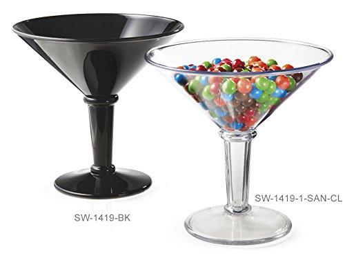 G.E.T. Enterprises Black 48 oz. Super Martini, Break Resistant Dishwasher Safe San Specialty Drinkware Collection SW-1419-BK (Pack of 1) ()