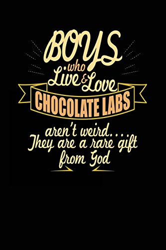 Boys Who Live & Love Chocolate Labs Aren't Weird... They Are a Rare Gift from God: Dog Lovers Journal Notebook
