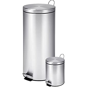 Amazon.com: HONEY Can Do INTL TRS-01886 Paso Trash Can Combo ...