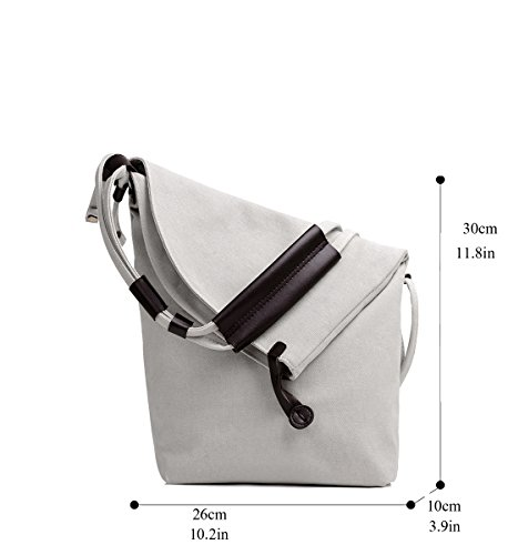 Casual Purse Hobo Fold Handbag Over Totes Bag Tote Bags Shoulder Canvas Beige Degohome qOxEFq