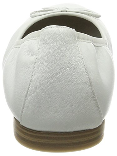 Donna 22116 Bianco Leather White Ballerine Tamaris EqHPaTxw