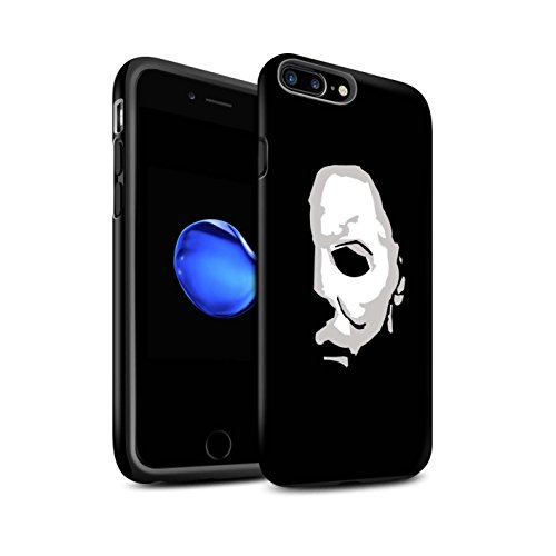 STUFF4 Matte Tough Shock Proof Phone Case for Apple iPhone 8 Plus/Michael Myers Inspired Art Design/Horror Movie Art -