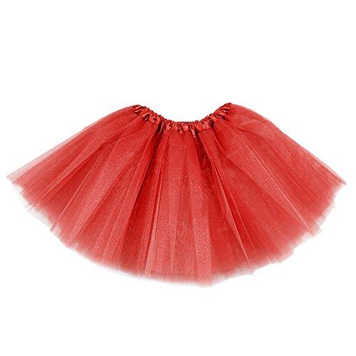 Molly Femmes Vrac Tulle Tutu Jupes Ballet De Danse Rouge