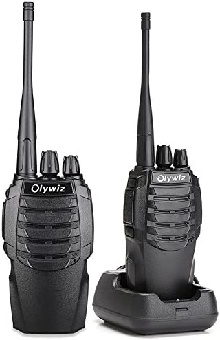 Walkie Talkies Two Way Radio Olywiz HTD826 Rechargeable Long Range 1800mAh Li-ion Battery UHF 406-470MHz 2 Pack