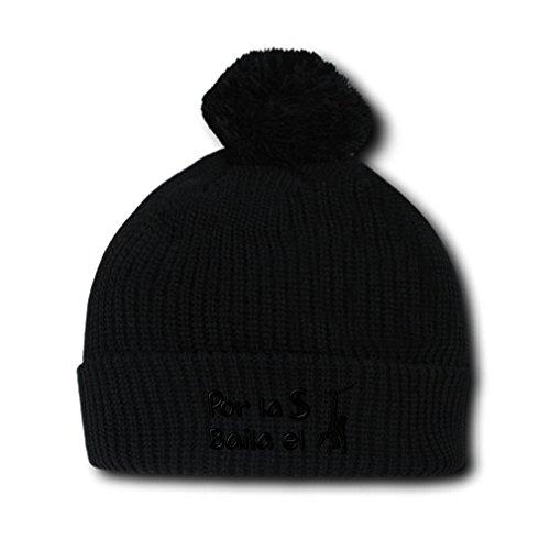 Por L (Black Spanish Hat With Pompoms)