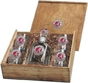 Alabama Crimson Tide Decanter Set by Heritage Pewter