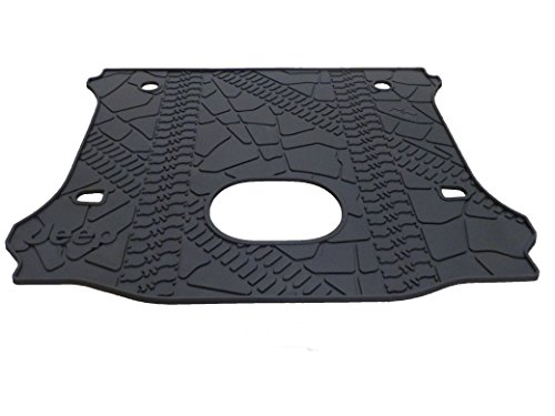 (Jeep Wrangler Unlimited Rear Cargo Mat Tray With Floor Mounted Sub Cutout )