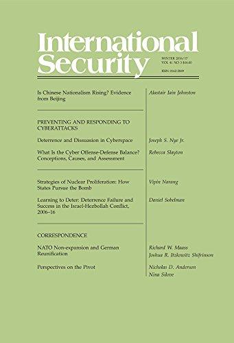 International Security 41:3 (Winter 2016/17)