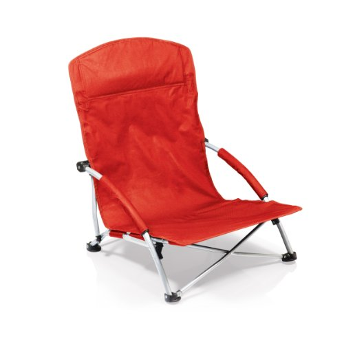 picture of Picnic Time Tranquility Portable Folding Beach Chair, Red