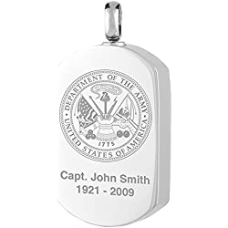 Perfect Memorials Department of The Army Stainless Steel Jewelry