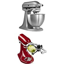 KitchenAid Classic Stand Mixer + Spiralizer Attachment with Peel
