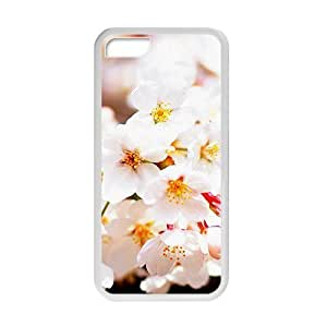 Personalized Creative Cell Phone Ipod Touch 4,glam whtie flowers elegant design