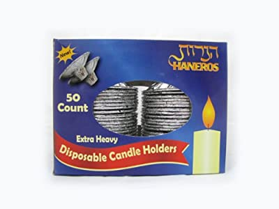 Disposable Aluminum Candle Holders - 50 Count
