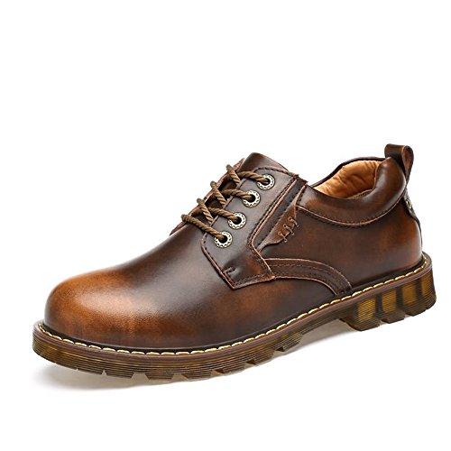 Xujw-shoes, 2018 Scarpe Stringate Basse Scarpe stringate basse da uomo in pelle sintetica con lacci e scarpe stringate oxford (Color : Nero, Dimensione : 44 EU) Brass