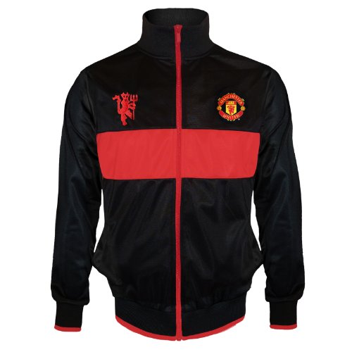 Manchester United Football Club Soccer Gift Boys Retro Track Jacket 12-13 Yr XLB - Retro Soccer Jackets