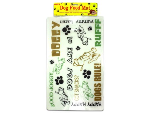 Plastic Dog Food Mat - Case of 96 by Dukes
