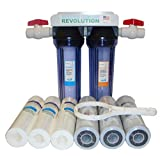 "Reverse Osmosis Revolution 3/4"" Port Dual Stage Whole House Water Filtration System with Sediment & CTO Filters"