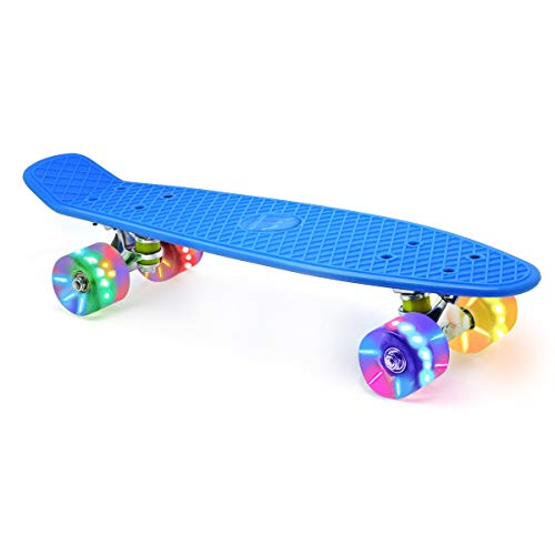 Merkapa-22-Complete-Skateboard-with-Colorful-LED-Light-Up-Wheels-for-Beginners