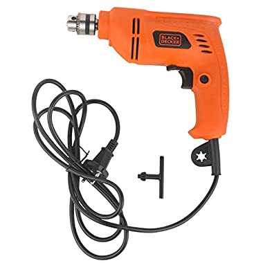 BLACK+DECKER BD65RD 400W 6.5mm Variable Speed Reversible Rotary Drill (Orange, 2-Pieces) 8