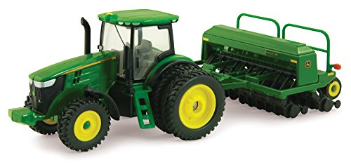 Deere Tractor John Diecast (Ertl Collectibles John Deere 7215R Tractor with Grain Drill)