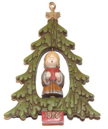 Angel Of Christmas Hallmark.1976 Hallmark Twirl About Angel In Christmas Tree Ornament