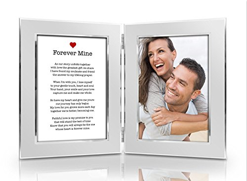 Humor Us Home Goods Romantic Love Poem Picture Frame Set - Premium Double Hinged Photo Frames - Gift for Dad, Husband, Grandpa, Men - Perfect Present for His Birthday, Father's (Valentines Day Frame)