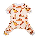 CuteBone Dog Pajamas Pizza Dog Apparel Dog Jumpsuit Pet Clothes Pajamas Puppy Clothes P55XS-CA