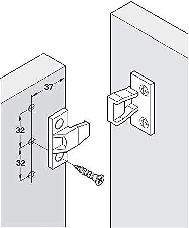 KEKU Push In AS Fittings Press Fit Panel Clips Plinth Fasteners HEAVY DUTY x4