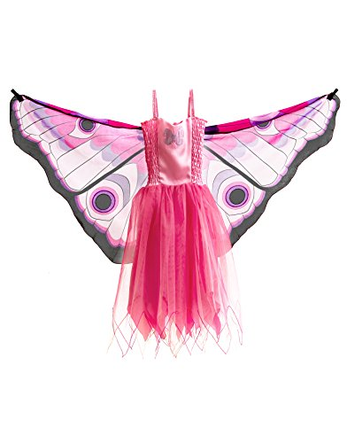 [Dress S Butterfly Pink] (Fairy Godmother Costume Toddler)