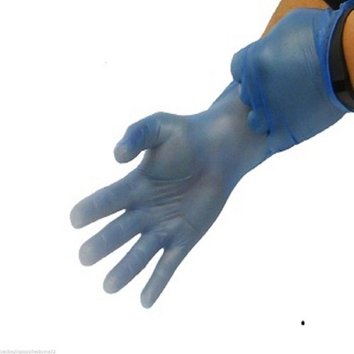 Blue Vinyl Non-Medical Disposable Powder Free Full Pallet Gloves Latex Free, 4.5 mil XLARGE 72000 Pcs by Shield