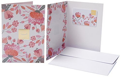 Amazon.com Gift Card in a Greeting Card (Pink Flowers Design)