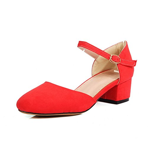 1TO9 Red 36 Femme Rouge Sandales Compensées 5 rwxSqIZrOU